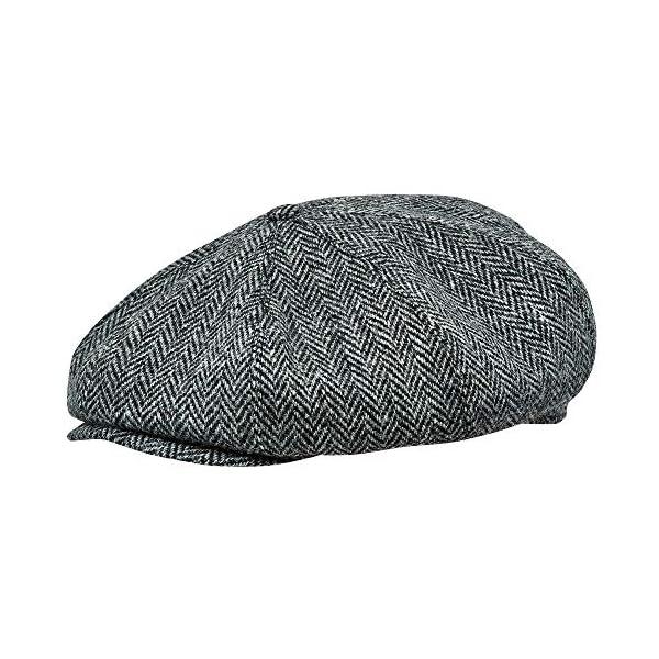 Sterkowski Peaky Blinders Harris Tweed Vintage Large 8-Panel Newsboy Flat Cap