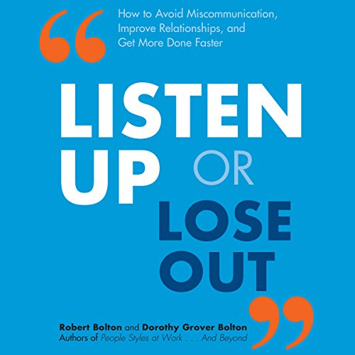 Listen Up or Lose Out audiobook cover art