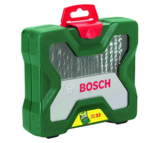 Bosch Home and Garden 2607019325 33pc Drill/Driving Set, Silver/Black