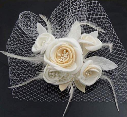 Exc Élégant, Chapeau De Mariage, pour Dames, Mariées, Accessoires De Cheveux, Chapeaux De Mariage, Fleurs Faites À La Main, Diadèmes Et Peignes