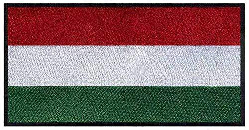 ASTONISH Parches de Bandera Hungría para Planchar, 7,6 cm de Ancho, Parche de Motorista/Hijos de Anarquía, Parche/Bolsa