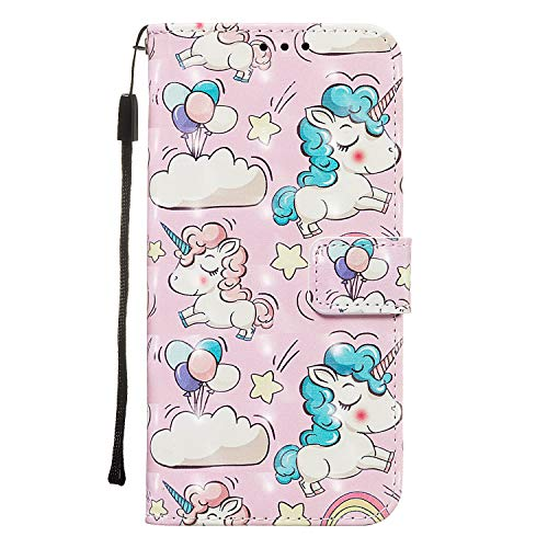 Shukukan voor Huawei P Smart Z Portemonneehoesjes, Balloon Unicorn