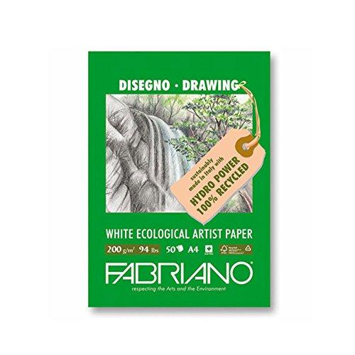 Unbekannt Fabriano Zeichenblock, FSC 100% Recycling, weiß, 21 x 29.7 x 0.5 cm
