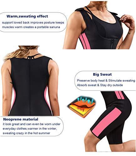 Gotoly Waist Trainer Hot Vest Sauna Sweat Suit Tummy Control Full Body Shaper (Black, Large)