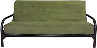 OctoRose Full Size Sage Bonded Classic Soft Micro Suede Futon Cover (Sage Green) (Cover Only, Mattress and Frame DO NOT Included)