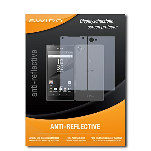 SWIDO Bildschirmschutz für Sony Xperia Z5 Compact [4 Stück] Anti-Reflex MATT Entspiegelnd, Hoher Festigkeitgrad, Schutz vor Kratzer/Glasfolie, Schutzfolie, Bildschirmschutzfolie, Panzerglas Folie