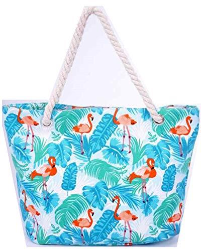 Einkaufstasche, Leinen, Strandtasche XL 53x32x14cm Shopper Reisetasche Yoga Mandala Tasche Sporttasche Sommer Schmetterling (2)