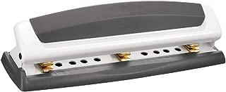 Swingline Desktop Hole Punch, Hole Puncher, Precision Pro, Adjustable, 2-3 Holes, 10 Sheet Punch Capacity, Gray/White (74019)