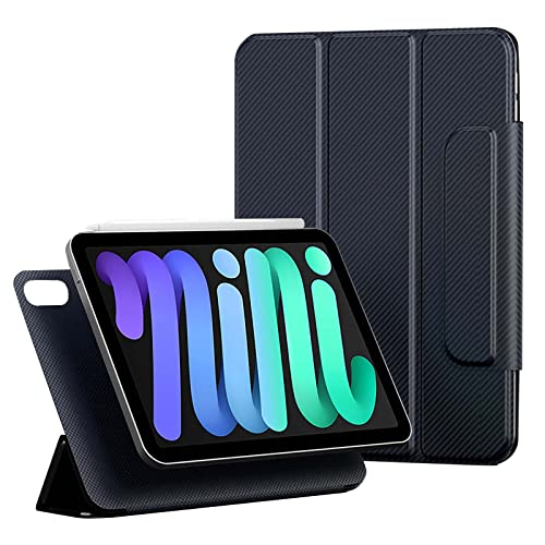 TENGFA Funda para iPad Mini de 6ª Generación de 8,3 Pulgadas, [Soporta Touch ID y Carga del 2º lápiz] Fibra de aramida + Material Compuesto de Fibra de Carbono Funda Protectora Delgada