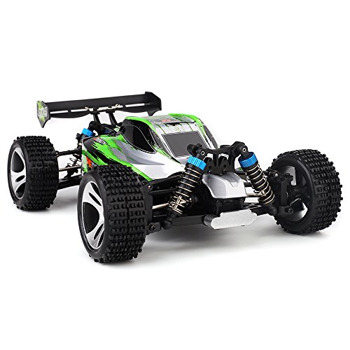 RC Auto kaufen Buggy Bild 5: s-idee® 18130 A959-A RC Auto Buggy Monstertruck 1:18 mit 2,4 GHz 35 km/h schnell, wendig, voll digital proportional 4x4 Allrad WL Toys ferngesteuertes Buggy Racing Auto*