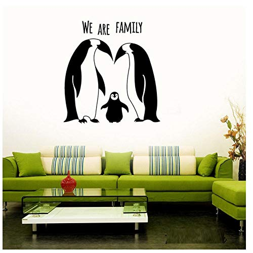 MINGKK - Adhesivos decorativos para pared, diseño de pingüinos y familia, 56 x 59 cm