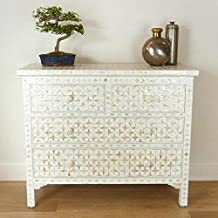 White Mother of Pearl Star Chest