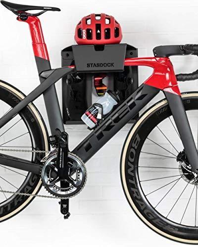 Stasdock Premium Wall Mount Bike Storage system - For Race Bicycles (Happy Black)
