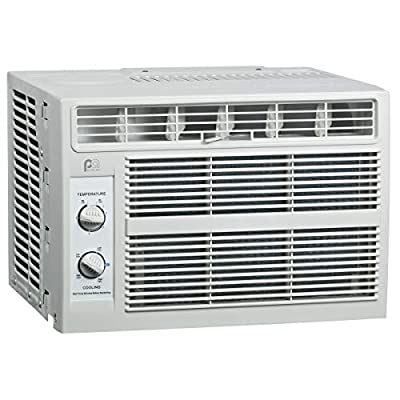 Perfect Aire 5,000 BTU 115-Volt Window Air Conditioner with Mechanical Controls, Installation Kit, Washable Filter, 150 sq. ft.