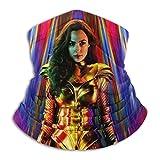 haoking Wonder Woman - Bandana multifuncional unisex para la cabeza, bandana para la cara, diadema, bufanda, polaina, protección UV y polvo, reutilizable, lavable, elástico y transpirable