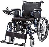 WXDP Silla de ruedas autopropulsada, eléctrica, plegable, portátil, comodidad y seguridad, fácil de levantar para los usuarios de discapacitados ancianos