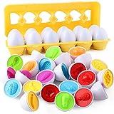 Juego de 12 huevos, juego de alimentos, juguete de cocina, juguete de rol, juguete educativo de frutas, juguete de regalo, no tóxico, sin olor