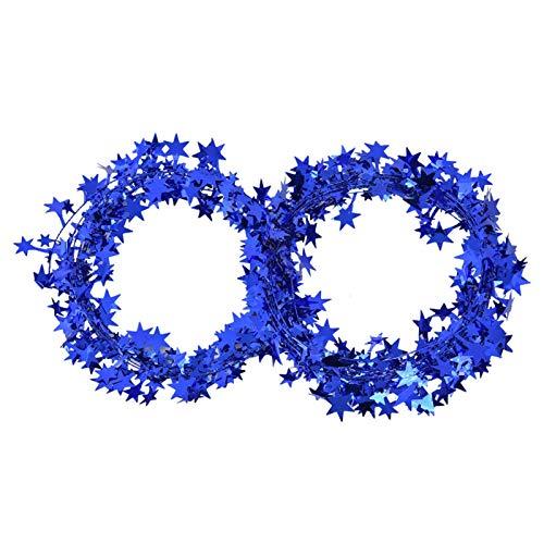 Haowecib Attractive Wire Garland, Star Decoration, Interesting for Wedding Christmas(blue)