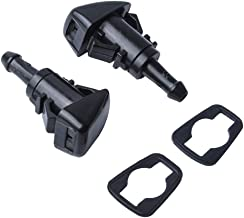OTUAYAUTO Front Windshield Washer Nozzles - for Dodge Caliber, Journey, Grand Caravan | Jeep Grand Cherokee, Compass | Ram 1500 2500 3500 - Replaces OEM #: 4805742AB, Spray Jet Kit (pack of 2)