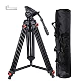 AW 71' Professional Camera Tripod Portable DV Video Steady Stand Fluid Damping Head Kit with Carry Bag 22lbs Capacity