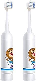 Toothbrush for Kids فرشاة الأسنان الكهربائية فرشاة أسنان فرشاة أسنان ناعمة للماء للأولاد الفتيات سن 3-12 سنة بيضاء Tooth B...