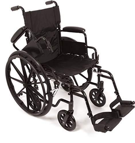 """ProBasics TRANSFORMER Ultra Lightweight Wheelchairs For Adults - Wheel chair + Transport Wheelchair In One - Flip Back Desk Arms - 18"""" x 16"""" Seat"""