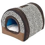 Cesta para Mascotas de Felpa 4 Colores Diferentes y 3 tamaños - Lavable y Resistente a los arañazos casa para los Perros y Gatos (Style 9, L)