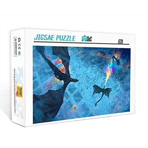 1000 piezas para adultos  Dragón de Juego de Tronos Rompecabezas/adulto 1000 piezas, regalos para niños juego de rompecabezas regalo 75x50cm