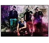 Wandkunst Bilder Coldplay Band Musikgruppe Farbe Poster
