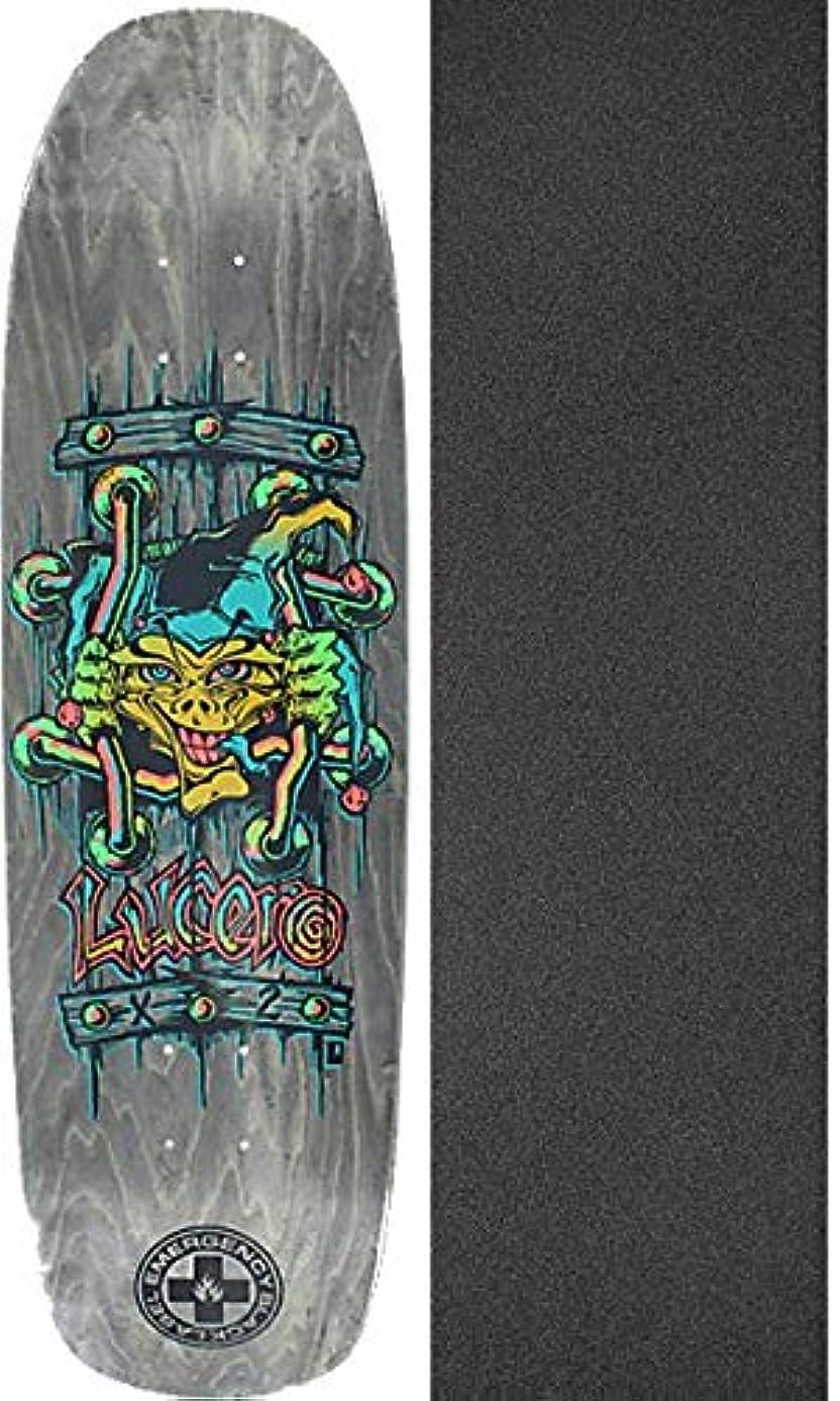Black Label Skateboards John Lucero X2 Grey Stain Skateboard Deck - 8.88