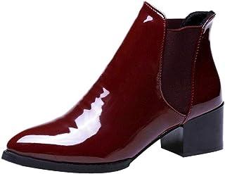 13f1cde8798dba Meilleure Vente! LuckyGirls Ankle Boots Femme Hiver Bottines Chelsea à  Talon Soldes Automne Chaussures Bottes