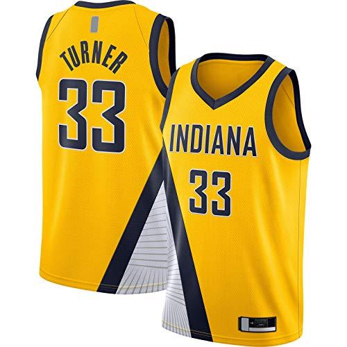 OYFFL Myles Camiseta de baloncesto sin mangas Indiana al aire libre Pacers Bordado #33 Acabado Swingman Jersey Oro - Declaración Edition-M