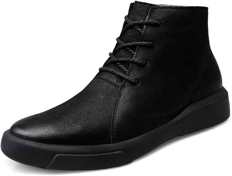 HILOTU Chukka-Stiefel für Herren,Lässiger Thermo-Winterstiefel für Herren Klassischer Desert Stiefel Lederschuh (Farbe   Schwarz, Größe   38 EU)    Qualität und Quantität garantiert