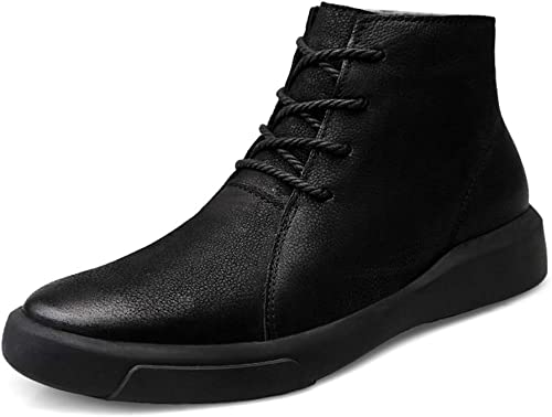 XHD-Chaussures Bottes Bottes à la Mode pour Hommes, Bottes décontractées, Bottes décontractées Confortables et légères (Top Velours en Option) (Couleur   Noir, Taille   40 EU)  réductions et plus