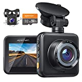 APEMAN Dual Lens Dash Cam for Cars Front and Rear with Night Vision