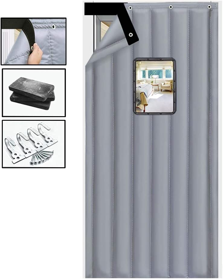 Thermal Insulated Door Curtain 2021 spring Max 81% OFF and summer new Thicken Curtai GGYMEI Cotton
