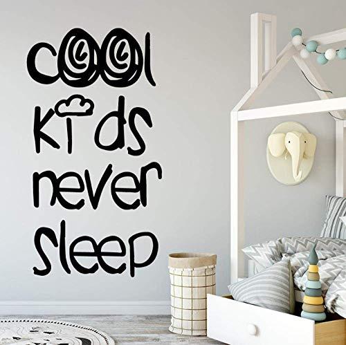 Pegatinas De Pared Calcomanías Murales Papel Tapiz Cool Kids Never Sleep Etiqueta Decorativa Decoración Para El Hogar Habitaciones Para Niños Nursery Room Decor Babys Stickers 43X79Cm