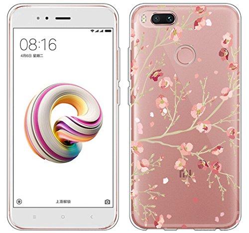 Cover Xiaomi Mi 5X / Xiaomi Mi A1 , ivencase Custodia Silicone Trasparente TPU Flessibile Sottile Bumper Case per Xiaomi...