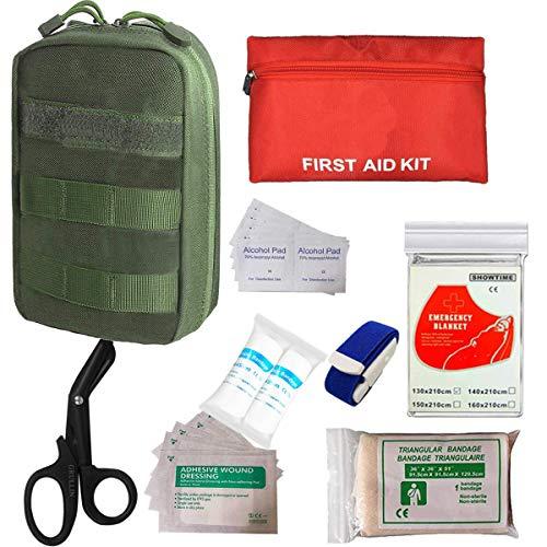 pequeño y compacto GRULLIN Botiquín de primeros auxilios, bolsa táctica MOLLE Medical IFAK Rip-Away EMT …