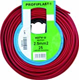 Profiplast PRP500256 - Bobina de cable (H07V-U, 2,5 mm² x 25 m), color rojo