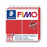 Staedtler- Fimo Leather-Effect Pasta per Modellare in Forno, Colore Anguria, 57 g, 8010-249 ST