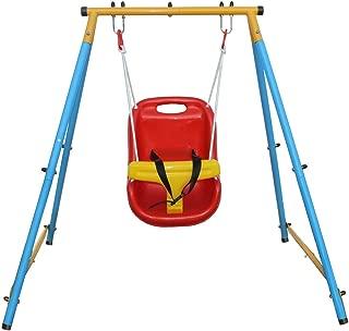 KLB Sport Baby Toddler Indoor/Outdoor Metal Swing Set (Blue)