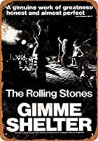 Shimaier 壁の装飾 メタルサイン 1970 Rolling Stones Gimme Shelter ウォールアート バー カフェ 縦20×横30cm ヴィンテージ風 メタルプレート ブリキ 看板