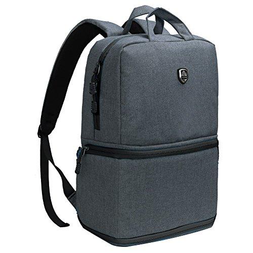 Koolertron Zaino per fotocamera Professionale Impermeabile Backpack Outdoor Viaggio per Canon Nikon Sony(Grigio Scuro)