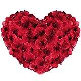 Vegena 3000 Piezas Pétalos de Rosa, Pétalos de Rosa en Seda Artificiales Rojo para Bodas Decoración, Fiestas, Proponer, Decoración de Regalo, día de San Valentín y Ambiente Romántico (Rojo)