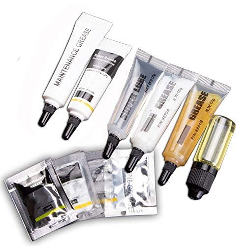 Lubricante de grasa de silicona, Grasa para cojinetes de grasa de engranajes de teclado, Se utiliza en diversas maquinarias, automóviles, bicicletas, etc. (Package B)