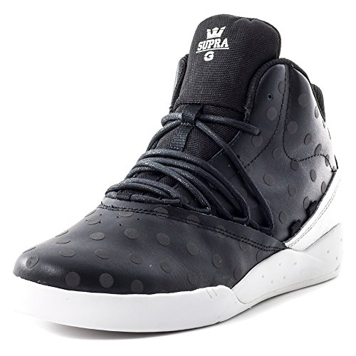 Supra Estaban, Unisex-Erwachsene Sneaker, - Black/Black - White - Größe: 7
