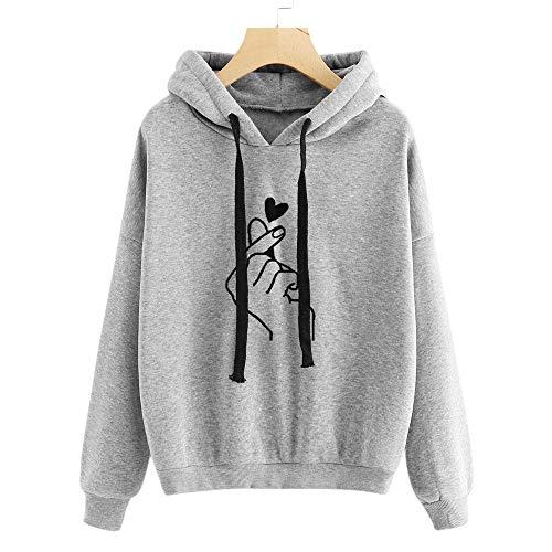 Sudadera con Capucha para Mujer-Sudaderas Mujer Baratas De Manga Larga Estampado Amor Tops Otoño-Invierno Camiseta Hoodie Capucha Pullover