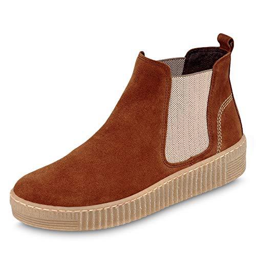 Gabor Shoes Damskie buty Gabor Jollys Chelsea, - Brązowy koniak Natur - 39.5 EU