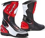 FORMA - Stivali da Moto Freccia Omologato CE Nero/Bianco/Rosso